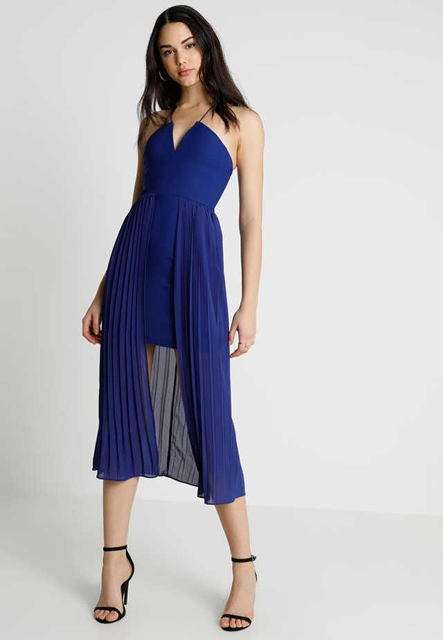 PLEATED DRESS - Cocktailklänning - cobalt