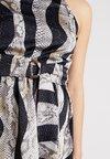 Rare London - HIGH NECK RING DETAIL HIGH LOW DRESS - Cocktailkleid/festliches Kleid - black multi