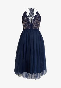 Rare London - SLEEVELESS EYELASH PROM DRESS - Sukienka koktajlowa - navy - 5