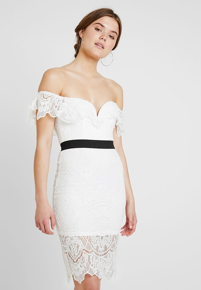 BARDOT DRESS - Cocktailkleid/festliches Kleid - white/black