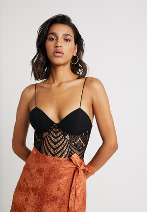 PANEL BODYSUIT - Top - black