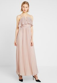 Rare London - RING BACK DETAIL PLEATED DRESS - Suknia balowa - dusky pink - 0