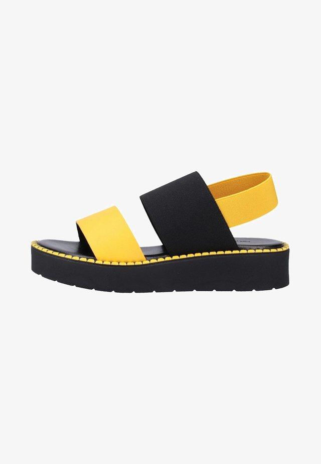Sandales à plateforme - yellow/black