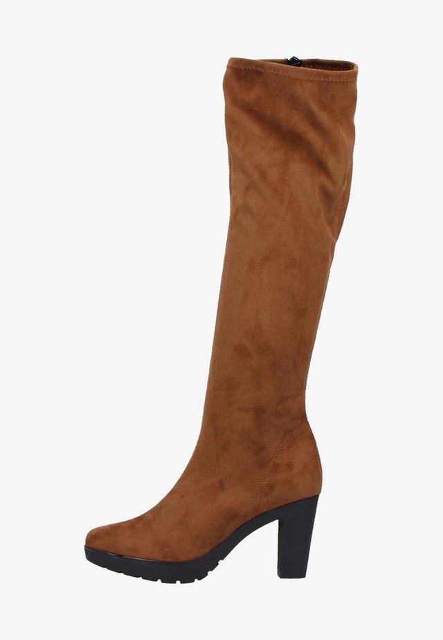 Overknees - brown
