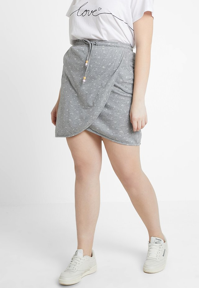 EXCLUSIVE NAILA DITSY PRINT WRAP SKIRT - Wickelrock - grey