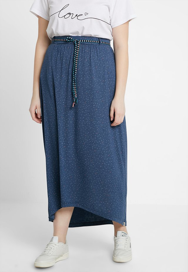 EXCLUSIVE GLEN PRINTED MAXI SKIRT - Maxi skirt - denim blue