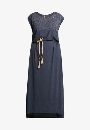 EXCLUSIVE TAG LONG JERSEY MAXI DRESS - Maxikjole - navy