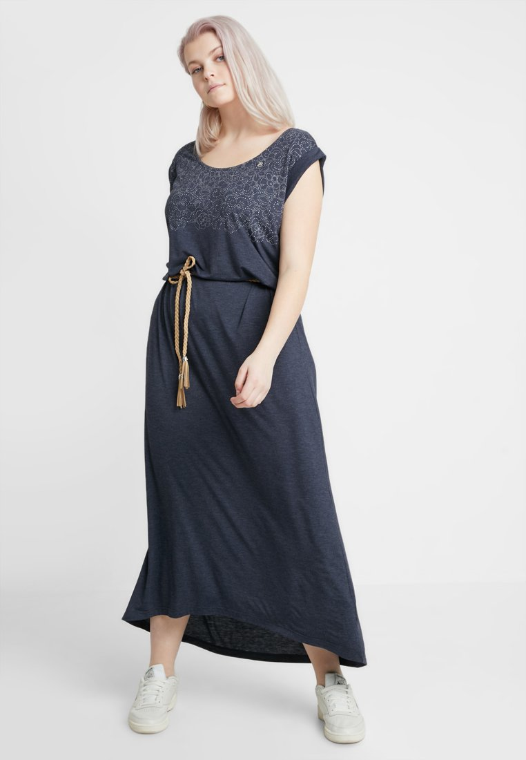 Ragwear Plus - EXCLUSIVE TAG LONG JERSEY MAXI DRESS - Maksimekko - navy