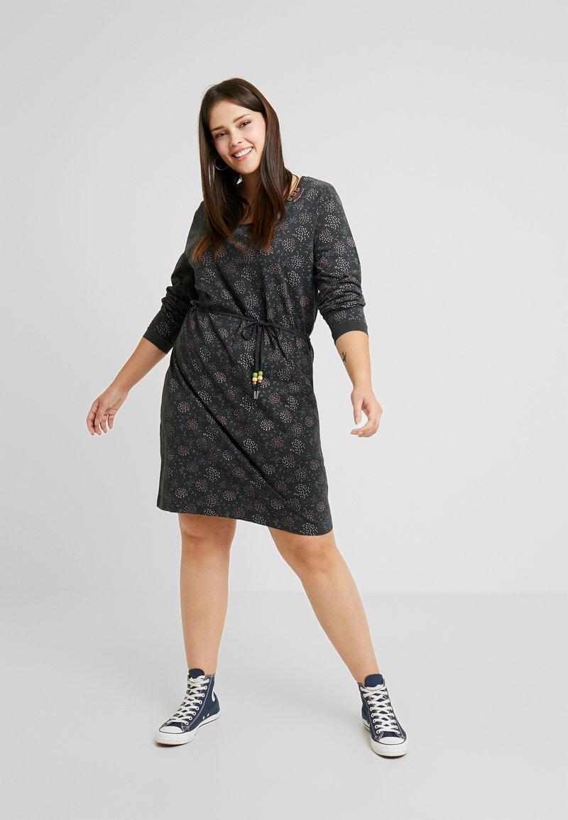 Ragwear Plus - PELIADA ORGANIC DRESS - Vapaa-ajan mekko - black