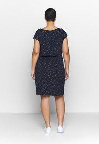 Ragwear Plus - TETUAN ORGANIC PLUS - Jerseyklänning - navy - 2