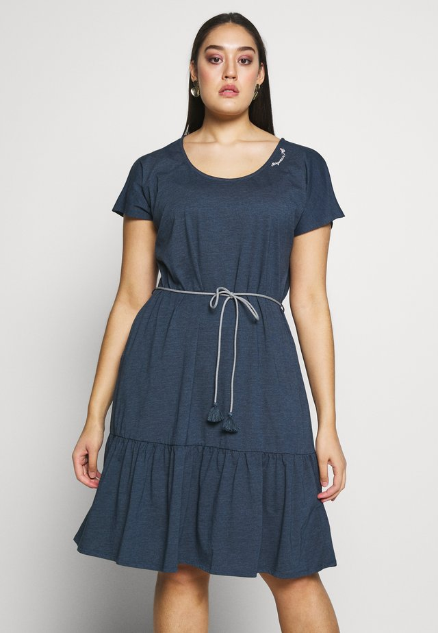 RIGATA PLUS - Jersey dress - denim blue