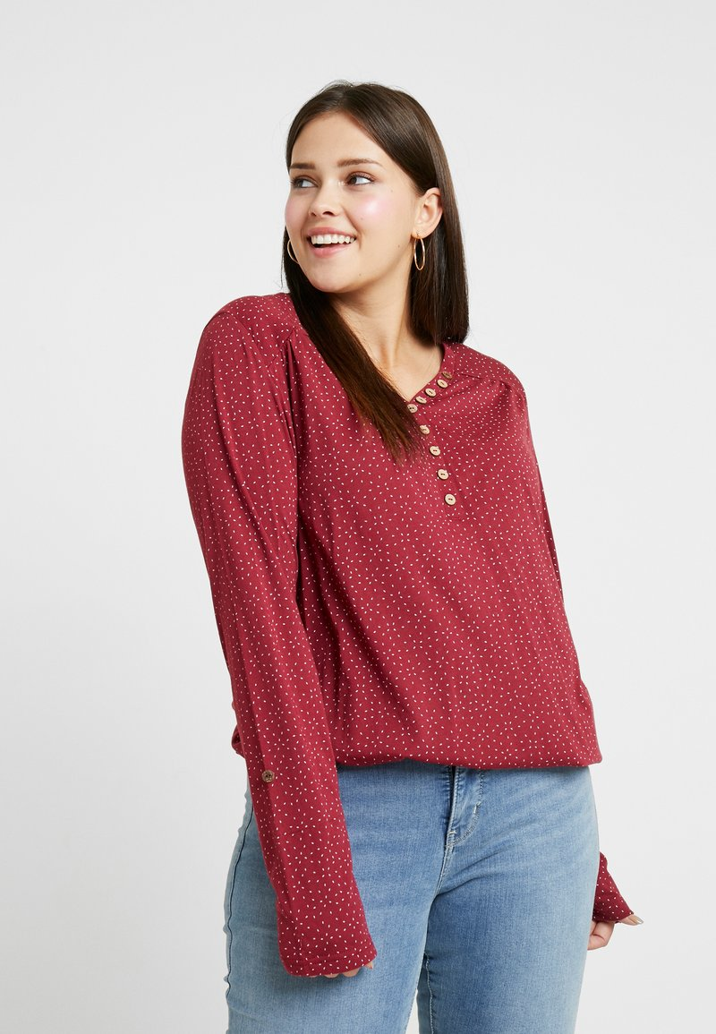 Ragwear Plus - PINCH LONG SLEEVE TEE - Topper langermet - wine red