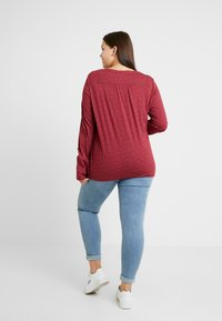 Ragwear Plus - PINCH LONG SLEEVE TEE - Topper langermet - wine red - 2
