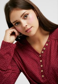 Ragwear Plus - PINCH LONG SLEEVE TEE - Topper langermet - wine red - 3