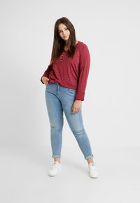 Ragwear Plus - PINCH LONG SLEEVE TEE - Topper langermet - wine red - 1