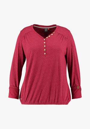 PINCH LONG SLEEVE TEE - T-shirt à manches longues - wine red