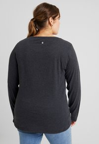 Ragwear Plus - FLORAH LONG SLEEVE TEE - Topper langermet - black - 2