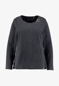 Ragwear Plus - FLORAH LONG SLEEVE TEE - Topper langermet - black - 4