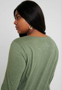 Ragwear Plus - LYVUSHA ORGANIC LONG SLEEVE TEE - Pitkähihainen paita - green - 4