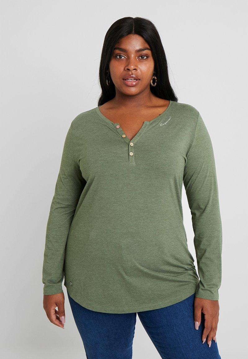 Ragwear Plus - LYVUSHA ORGANIC LONG SLEEVE TEE - Topper langermet - green