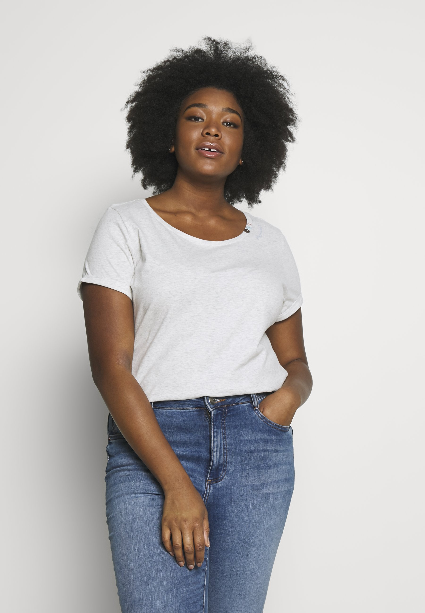 Ragwear Plus FLORAH  - T-shirts med print - white