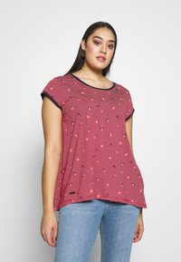 Ragwear Plus - DOMINICA - T-shirts med print - red - 0