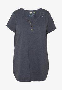 Ragwear Plus - ORGANIC PLUS - T-shirts med print - navy - 4