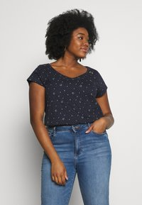Ragwear Plus - ROSANNA PLUS - T-shirt med print - navy - 0