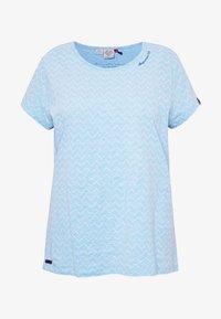 Ragwear Plus - ZIG ZAG PLUS - T-shirt imprimé - blue - 4