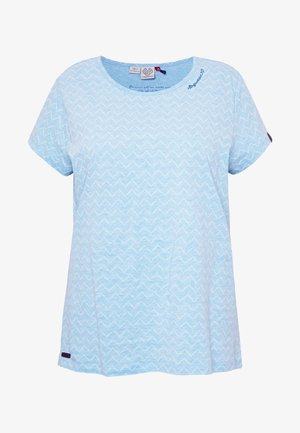 ZIG ZAG PLUS - T-shirts med print - blue