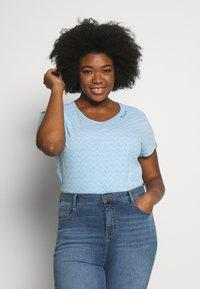 Ragwear Plus - ZIG ZAG PLUS - T-shirt imprimé - blue - 0