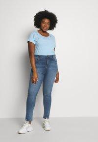 Ragwear Plus - ZIG ZAG PLUS - T-shirt imprimé - blue - 1