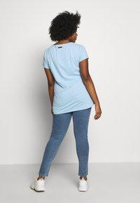 Ragwear Plus - ZIG ZAG PLUS - T-shirt imprimé - blue - 2