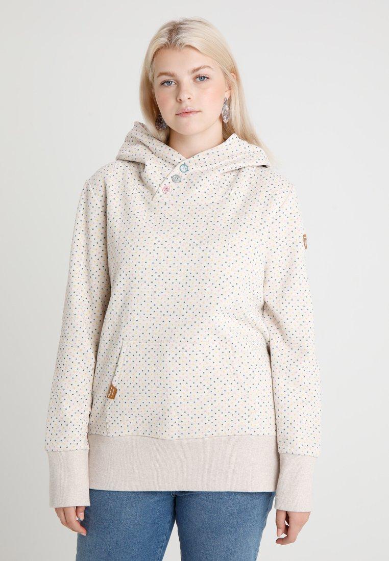 Ragwear Plus - CHELSEA DOTS - Hoodie - beige