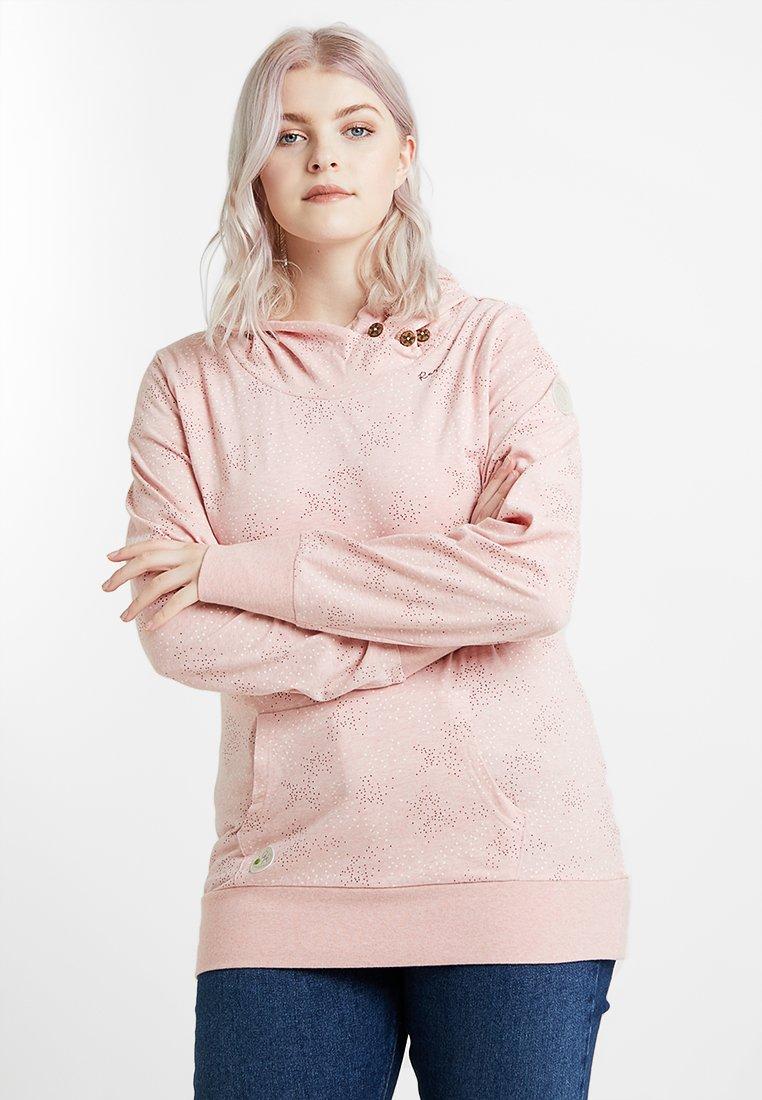Ragwear Plus - EXCLUSIVE SASHA HOODED SWEATSHRT - Long sleeved top - light red