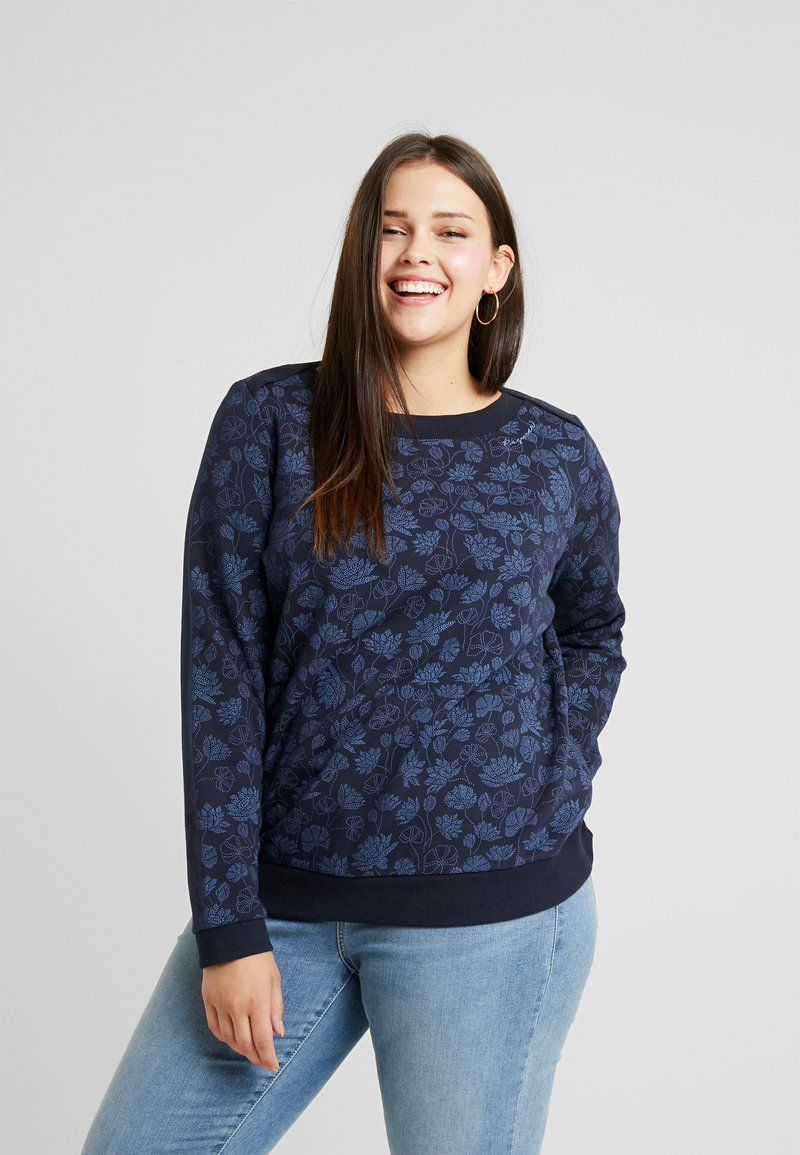 Ragwear Plus - TASHI CREW - Sweatshirt - navy