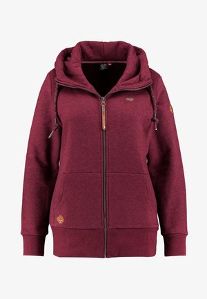 NESKA ZIP THROUGH HOODIE - Hettejakke - wine red