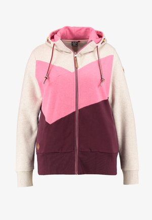VIOLA BLOCK ZIP THROUGH HOODIE - Hettejakke - wine red