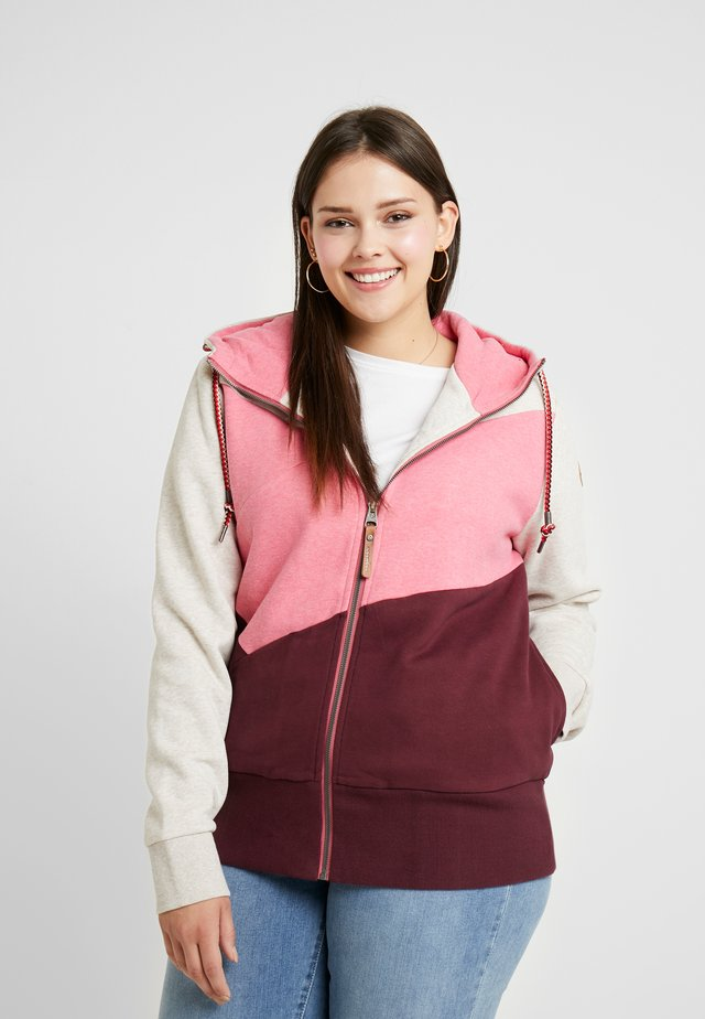 VIOLA BLOCK ZIP THROUGH HOODIE - Zip-up hoodie - wine red