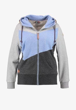 VIOLA BLOCK ZIP THROUGH HOODIE - Zip-up hoodie - blue