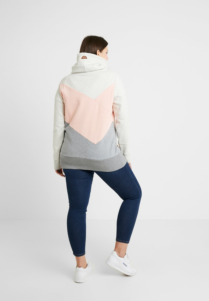 Ragwear Plus - VIOLA BLOCK - Collegepaita - light pink