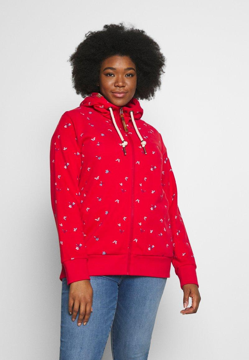 Ragwear Plus - Zip-up hoodie - red