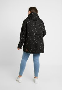Ragwear Plus - MONADIS HEARTS COAT - Vinterkåpe / -frakk - black - 2