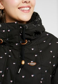 Ragwear Plus - MONADIS HEARTS COAT - Vinterkåpe / -frakk - black - 5