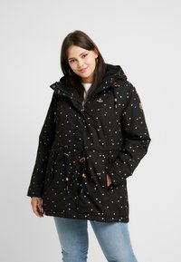 Ragwear Plus - MONADIS HEARTS COAT - Vinterkåpe / -frakk - black - 0