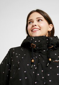 Ragwear Plus - MONADIS HEARTS COAT - Vinterkåpe / -frakk - black - 3