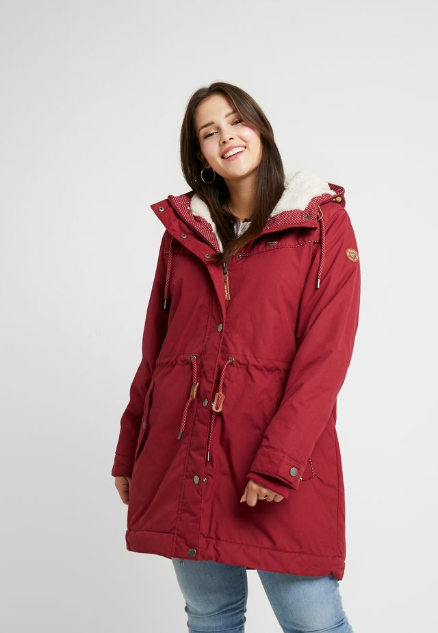 CANNY COAT - Vinterfrakker - wine red