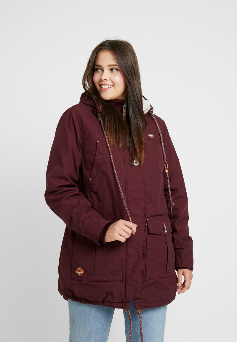 Ragwear Plus - JANE COAT - Parkatakki - wine red