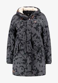 Ragwear Plus - TAWNY CAMO COAT - Parkas - dark grey - 4