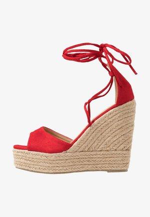 MAREA - Sandály na vysokém podpatku - red